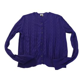 Missoni-Gilet Bleu-Violet MISSONI-Bleu
