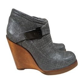 Mulberry-Ankle Boots-Silvery