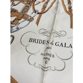 Hermès-Brides de Gala dessiné par Hugo Grygkar-Orange