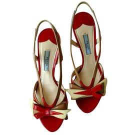 Prada-Sandales-Rouge