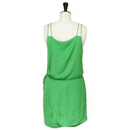 Zara-Robe-Vert