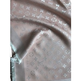 Louis Vuitton-CHALE DENIM MONOGRAM-Rose