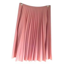 JW Anderson-Jupe plisse soleil rose-Rose