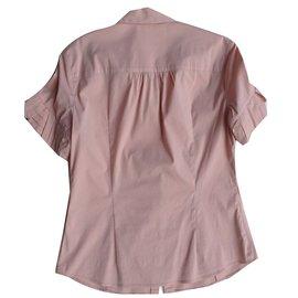 Miu Miu-Chemise à plis Miu Miu-Rose
