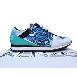 Kenzo-Sneakers-Blanc,Bleu,Vert