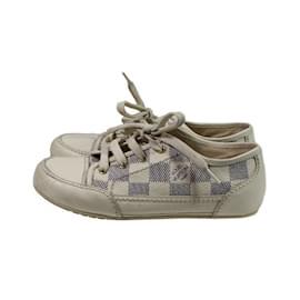 Louis Vuitton-Sneakers-Bleu,blanc cassé