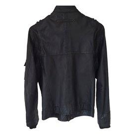 Autre Marque-Blouson en cuir MEXX-Noir