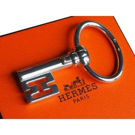 Hermès-Porte clé collector-Argenté