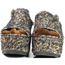 Castaner-Chaussures à platformes-Gris