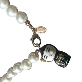 Chanel-Collier Perles Chanel-Doré