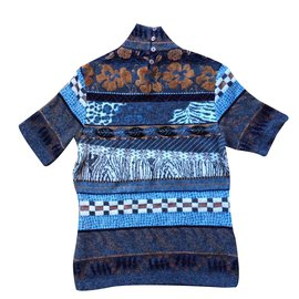 Kenzo-Pull Kenzo manches courtes , taille M-Multicolore