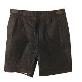 Issey Miyake-Paper shorts-Black