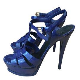 Yves Saint Laurent-Escarpins-Bleu