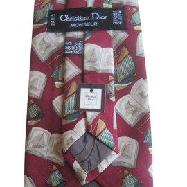 Christian Dior-Cravate-Rouge,Bordeaux