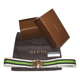 Gucci-Gucci ceinture Web-Noir,Blanc,Vert