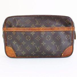 Louis Vuitton-LOUIS VUITTON pochette Compegnie 28-Marron,Orange