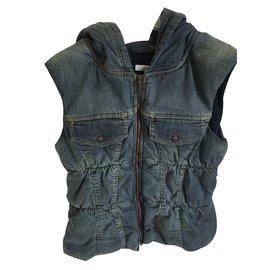 Jean Paul Gaultier-Girl Coats outerwear-Blue