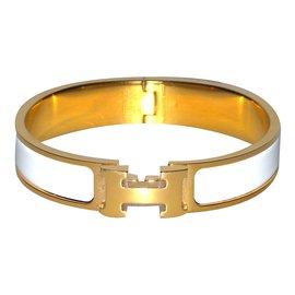 Hermès-Bracelet Clic H-Blanc