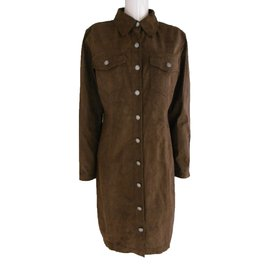 Yves Saint Laurent-Robe-Marron