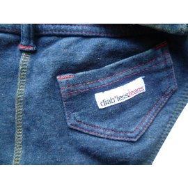 Autre Marque-pièces Maillot de bain deux style jeans Diabless Jeans-Bleu