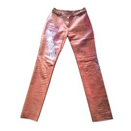 Céline-Pants, leggings-Caramel