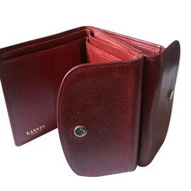 Lanvin-Wallets Small accessories-Red,Dark red