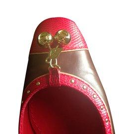 Louis Vuitton-Ballerines-cognac,prune