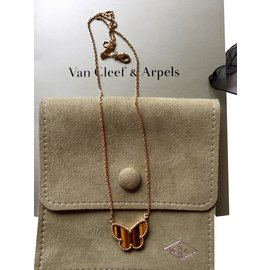 Van Cleef & Arpels-Pendentif Lucky Alhambra-Marron clair
