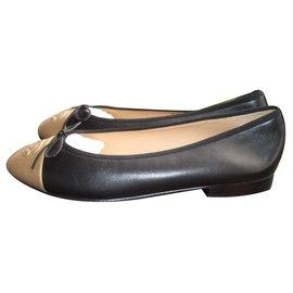 Ballerines Chaussures De Ballerine Pour Les Femmes En Vente, Noir, Cuir, 2017, 36,5 37 37,5 38,5 Fendi