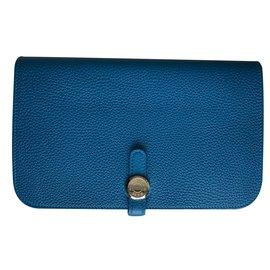 Hermès-Portefeuille-Bleu