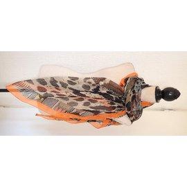 Hermès-Scarves-Brown,Leopard print,Zebra print