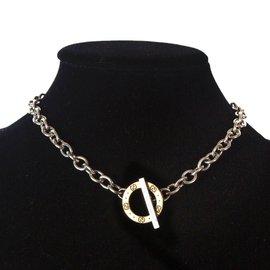 Gucci-collier pendentif or et argent-Argenté