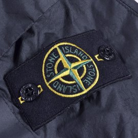 Stone Island-Windbreaker Pullover Jacket-Black