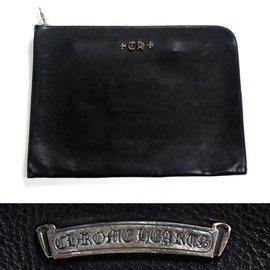 Chrome Hearts-Pochette clutch XL-Noir