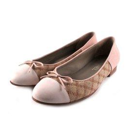 Chanel-Tweed Ballerinas-Beige