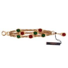 Chanel-Vintage Gripoix Bracelet-Doré