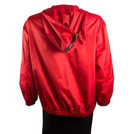 Louis Vuitton-coupe-vent avec capuche-Rouge