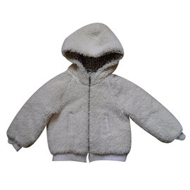 Gap-Blouson, manteau fille-Blanc
