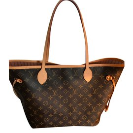 Louis Vuitton-Louis Vuitton neverfull MM  rose ballerine superbe.-Autre
