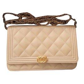 Chanel-Sac à main-Beige
