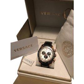 Versace-Montre Versace VDB04/14 - neuve authentique Homme-Noir,Doré