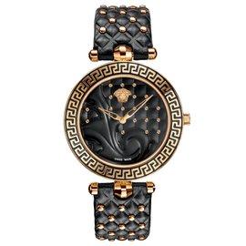 Versace-Montre femme  Versace VK703/0013 - neuve authentique-Noir,Doré