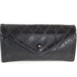 Chanel-Pochette porte monnaie chanel-Noir