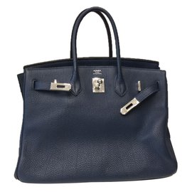 Hermès-Sac à main-Bleu Marine ... aa4cf4afe4f
