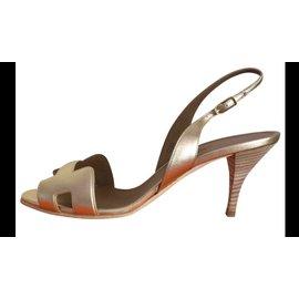 Hermès-Hermes Sandal-Golden