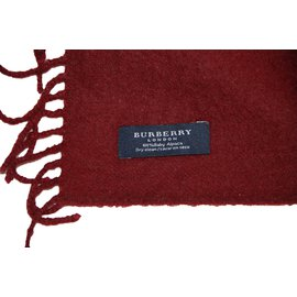 Burberry-Scarf-Dark red