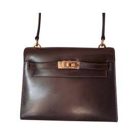 Hermès-Mini Kelly 20-Dark brown
