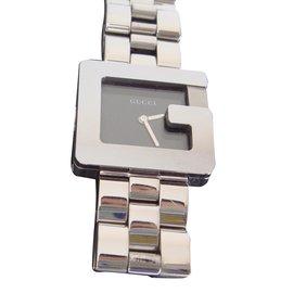 Gucci-montre mixte intemporelle-Argenté