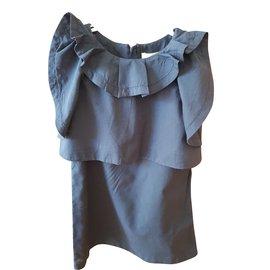 Chloé-Robe fille-Bleu Marine