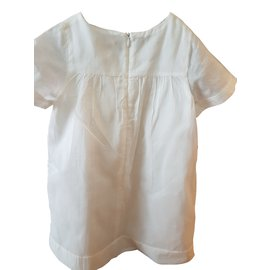 Chloé-Robe fille-Blanc